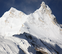 Manaslu Mountain from north side